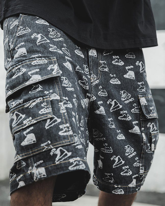 《2色》スニーカーズブリーチデニムショートパンツの画像6